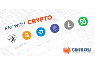 Pay with BCD, BTC, DASH, ETH, LTC, and XZC at Cinfu Hosting Solutions