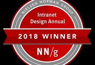 Bonzai Intranet Client wins 2018 Nielsen Norman Group Intranet Design Award