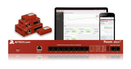 AVTECH Unveils New RoomAlert.com Online Account Dashboard and Environment Monitoring Service