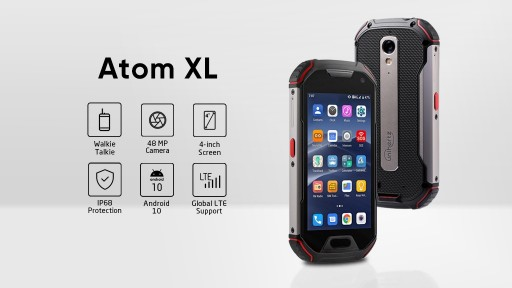 Unihertz Announces the Kickstarter Launch of Atom XL: The Smallest DMR Walkie-Talkie Rugged Smartphone