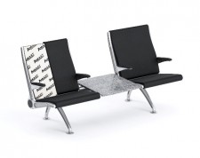 Arconas Flyaway airport seating embedded with Amulet®Ballistic Barrier
