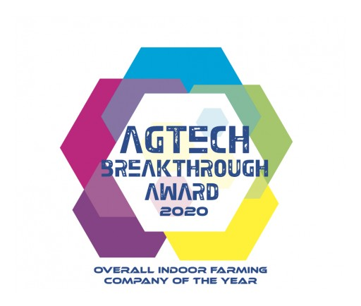 AgEye Technologies Honored as Indoor Farming Company of the Year by the AgTech Breakthrough Awards