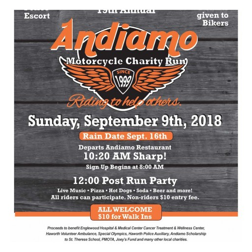 Lesnevich, Marzano-Lesnevich, Trigg, O'Cathain & O'Cathain, LLC  Support the Annual Andiamo Motorcycle Charity Run and Bike Show  for 19th Year in a Row