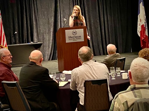 On January 15, 2020, Comedian Muffy Was the After-Dinner Keynote Speaker as Part of the 2020 ISAC University Conference for the Iowa State Association of Counties in West Des Moines, Iowa