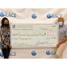 Cambre & Associates donates to Grace Community Food Pantry