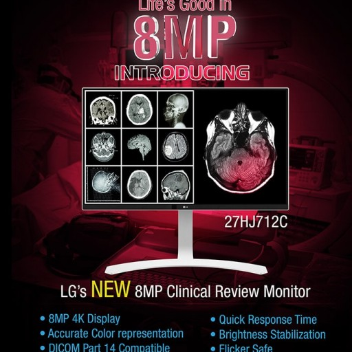 Ampronix Announces Availability of LG 8MP / 4K Clinical Review Display Monitor