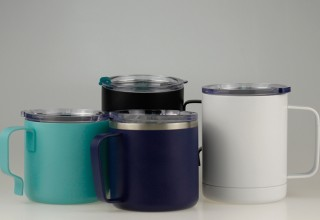 Double wall vacuum coffee mug