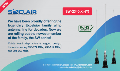 Sinclair Technologies Announces the Launch of Its SW Series Antenna