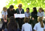 Scientologist Fiona Milne with some of her pupils at Athena School in New South Wales, Australia