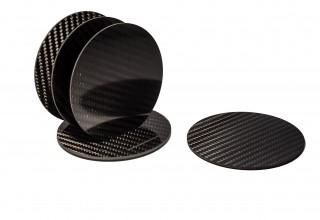 New Carbon Fiber Coaster Set