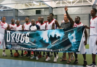 Johannesburg-based Phenoms, one of the sports teams in South Africa that partner with Drug-Free World Africa