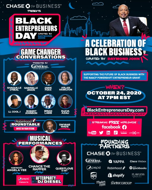 Black Entrepreneurs Day Presented by Chase for Business Announces New Partnership With Robinhood & Addition of 'Robinhood Roundtable With Dwyane Wade'