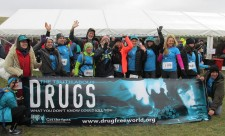 Drug-Free World Sussex Runners ran in the Endurancelife half-marathon March 17 to raise funds for drug education activities.