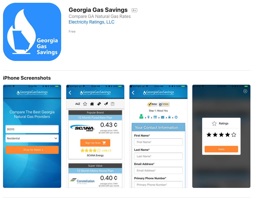 Georgia Gas Savings Launches Georgia Natural Gas Mobile Shopping