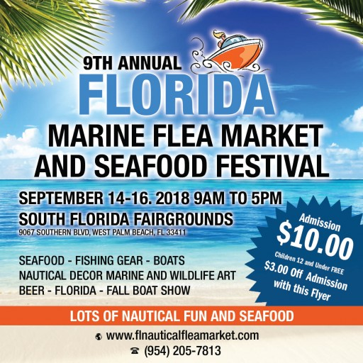 The West Palm Beach Marine Flea Market, Boat Show and Seafood Festival This Weekend
