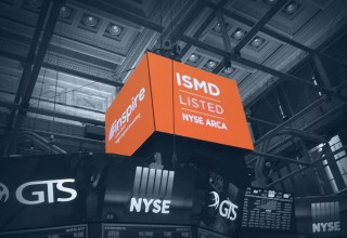 Inspire Small/Mid Cap Impact ETF (NYSE: ISMD) on NYSE floor billboard