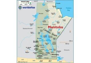 Map Lake Winnipeg