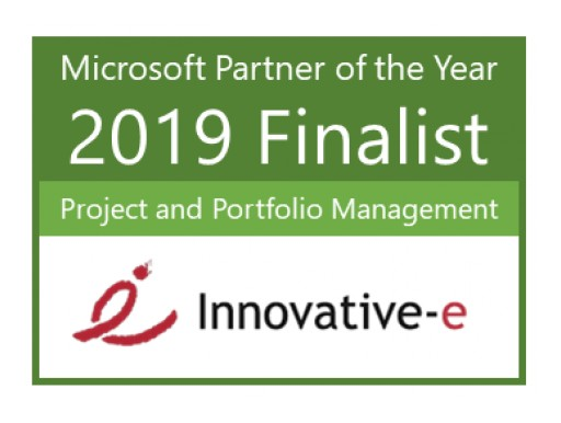 Innovative-e officially recognized as a Finalist for 2019 Microsoft Project & Portfolio Management (PPM) Partner of the Year Award at Microsoft Inspire Conference July 14-18, 2019