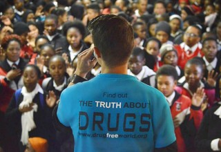 Drug-Free World Africa delivers drug education lectures in schools throughout South Africa.