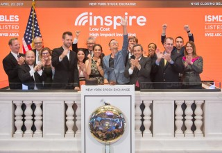 Inspire Investing rings the New York Stock Exchange closing bell.