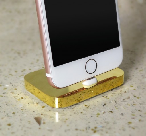 24k Gold iPhone Dock Released by Brikk in Time for the Holidays With 7% to Charity of Client's Choosing