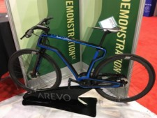 Carbon fiber reinforced bike by Arevo at the IDTechEx Show! USA 2018