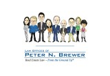 Law Offices of Peter N. Brewer Logo and Team