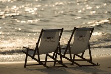 Your chairs await you on St. Joseph Bay