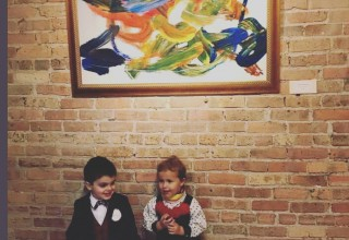 Artwork by 2-year-old Eero Sebastian Hilton on display in Chicago's West Loop