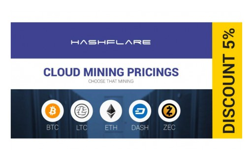 HashFlare Offers Cheaper Bitcoin and Scrypt Cloud Mining With 5 Percent Discount