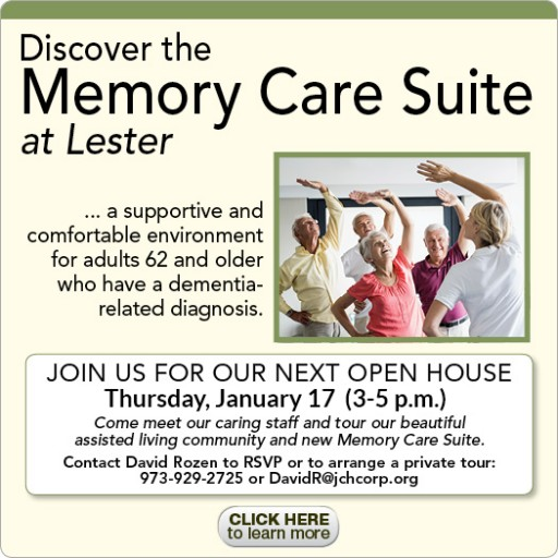 Lester Senior Living in Whippany Offers Short-Term Assisted Living Respite Stays With Full Range of Services