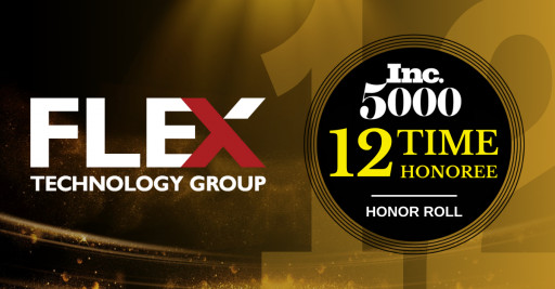 Flex Technology Group Achieves Unprecedented 12 Consecutive Years on the 2021 Inc. 500|5000 List of Fastest-Growing Companies