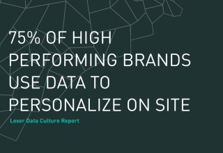 75% of high performing brands use data to personalize on site