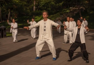 Dr OZ Practices Tai Chi in Beijing