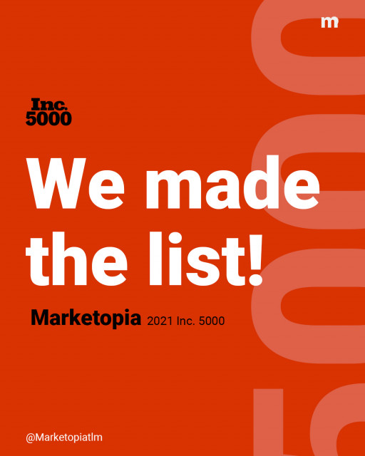 Marketopia Named to Inc. 5000 List for 4th Straight Year