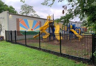 New Playground Fence at Preston Taylor Ministries
