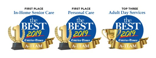 A-Team Home Care Voted the Best for In-Home Senior Care and Personal Care, and Top 3 for Adult Day Services