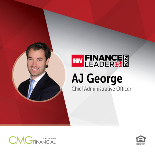 CMG Financial's AJ George Recognized as 2021 HousingWire Finance Leader