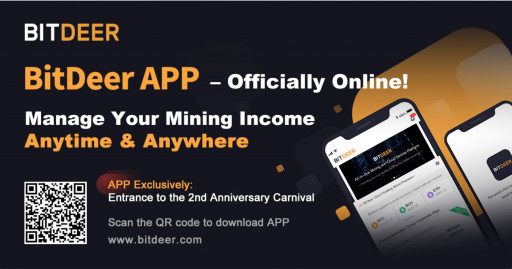 BitDeer.com Debuts Mobile Application to Ring in Second Anniversary Celebrations