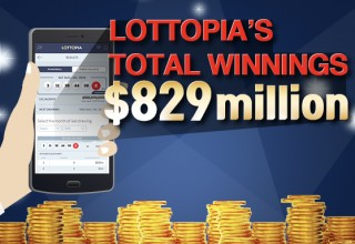 Lottopia's Total Winnings
