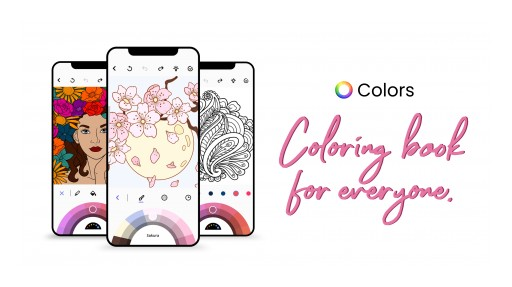 Tap to Color: Free Coloring Book App 'Colors' Launches Globally