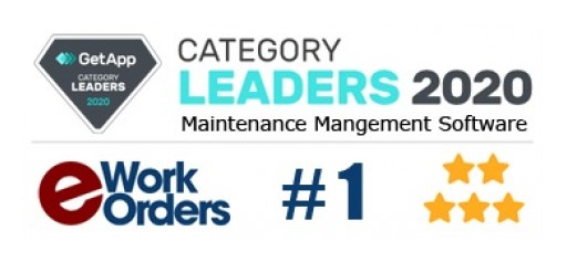 eWorkOrders is Recognized as the #1 Maintenance Management Software Leader for 2020