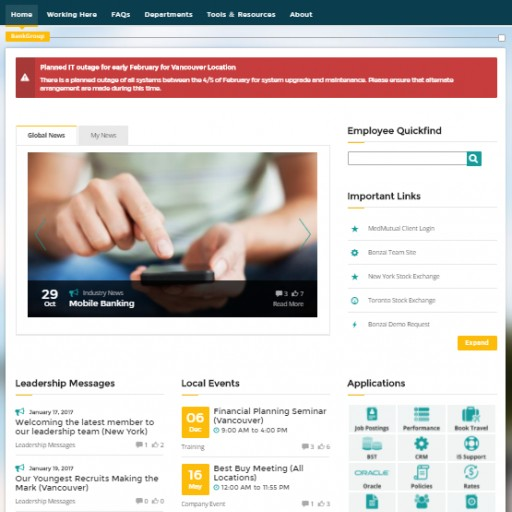 Bonzai North America's Highest Rated Intranet According to Independent Review