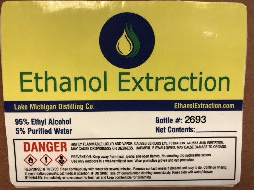 Ethanol Extraction Recalls Alcohol Product Because of Possible Health Risk