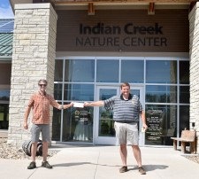 Steve Shriver pledging to Indian Creek Nature Center