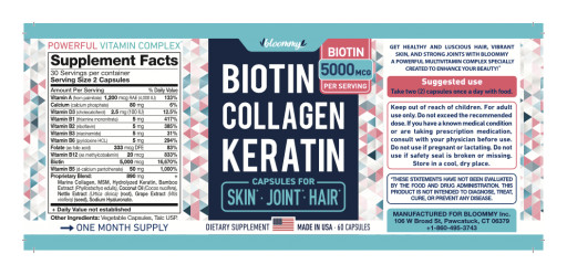 Bloommy, Inc. Issues Allergy Alert on Undeclared Fish in Bloommy Biotin Collagen Keratin Capsules