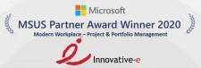 Innovative-e 2020 Winner of MSUS Partner Award in Modern Workplace - Project & Portfolio Management