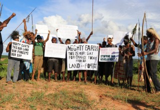 Papuan tribes protest against Mighty Earth
