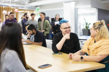Employees at NerdWallet - the biggest climber on the list, up 18 spots from #21 to #3 in 2021.