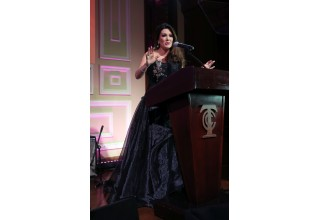 Co-Founder Lisa Vanderpump speaks to 450 guests about the successes of the Foundation